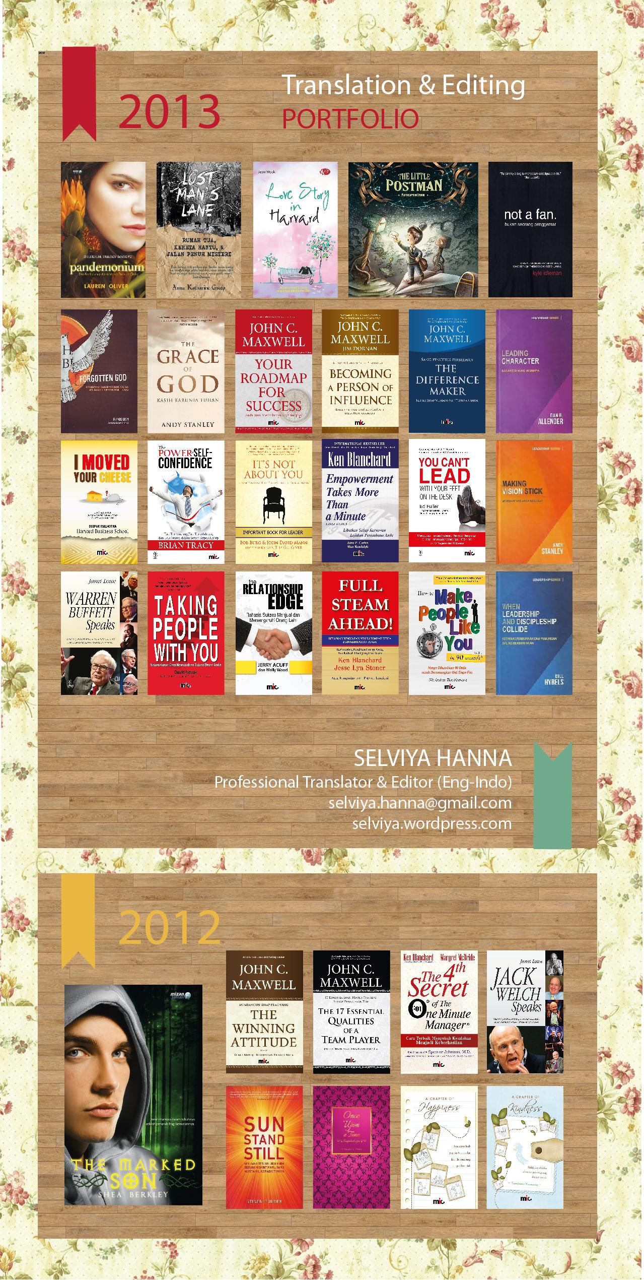 buku yang diedit dan diterjemahkan 2012-2013