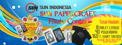 Sun Paper Craft Photo Contest